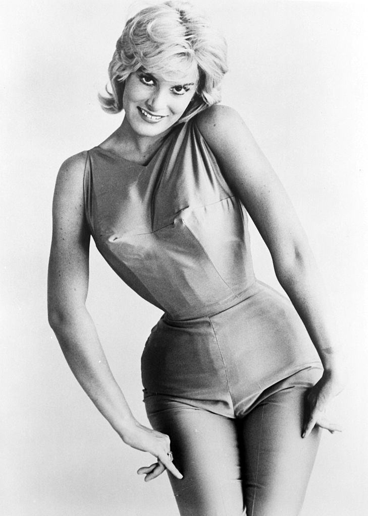 June Wilkinson wearing form fitting outfit, 1960