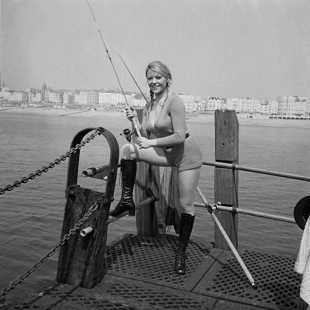 Margaret Nolan On Location In Brighton For The Filming Of Carry On At Your Convenience Uk 4th May 1971 Bygonely