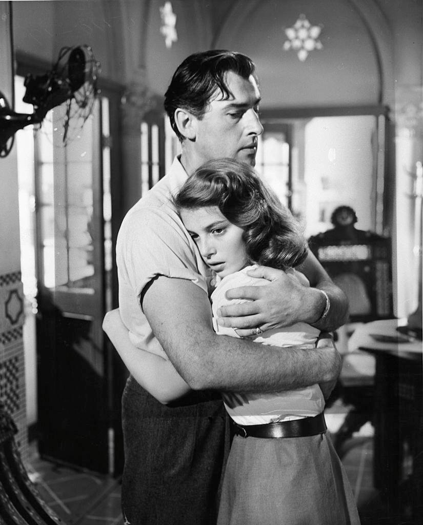 Pier Angeli with Stewart Granger in the film 'The Light Touch', 1952