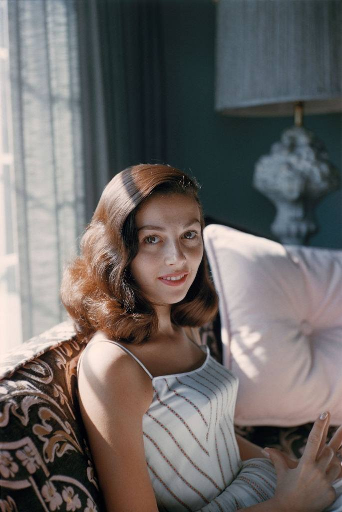Pier Angeli at her home in 1956