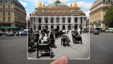 Then and now Paris