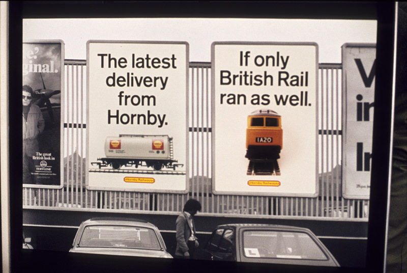 Advertisement by a Graphic Design student displayed in the degree show at Manchester Polytechnic's Faculty of Art and Design in 1978.