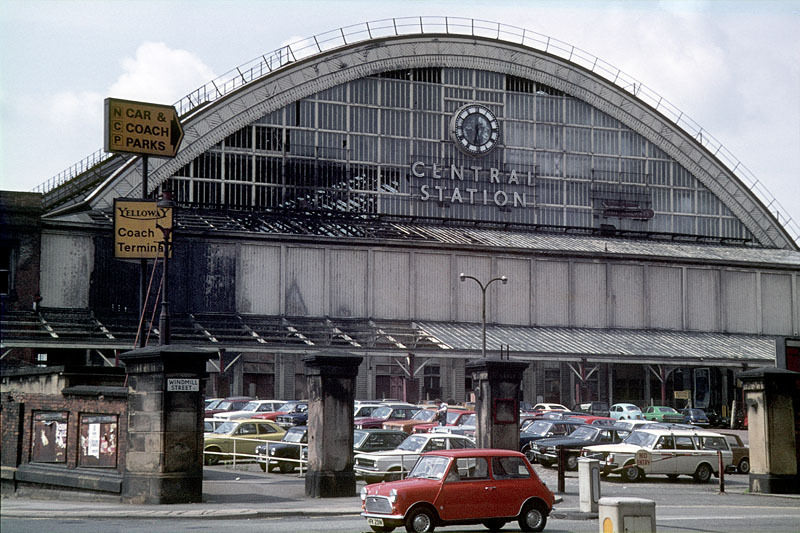 Manchester Central Station from Windmill Street, around 1975.