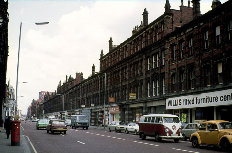 View north along Deansgate in June 1976.