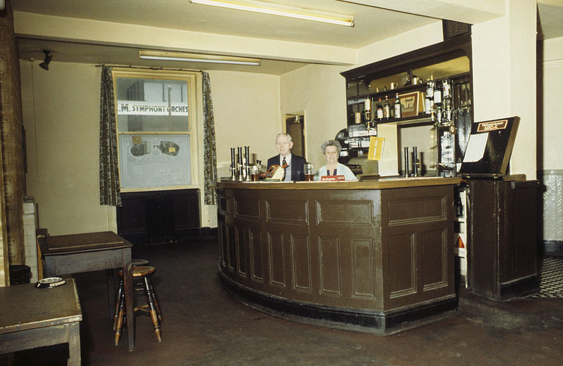The vault in the Lloyds Arms pub on Higher Ormond Street, All Saints, Manchester, around 1974.