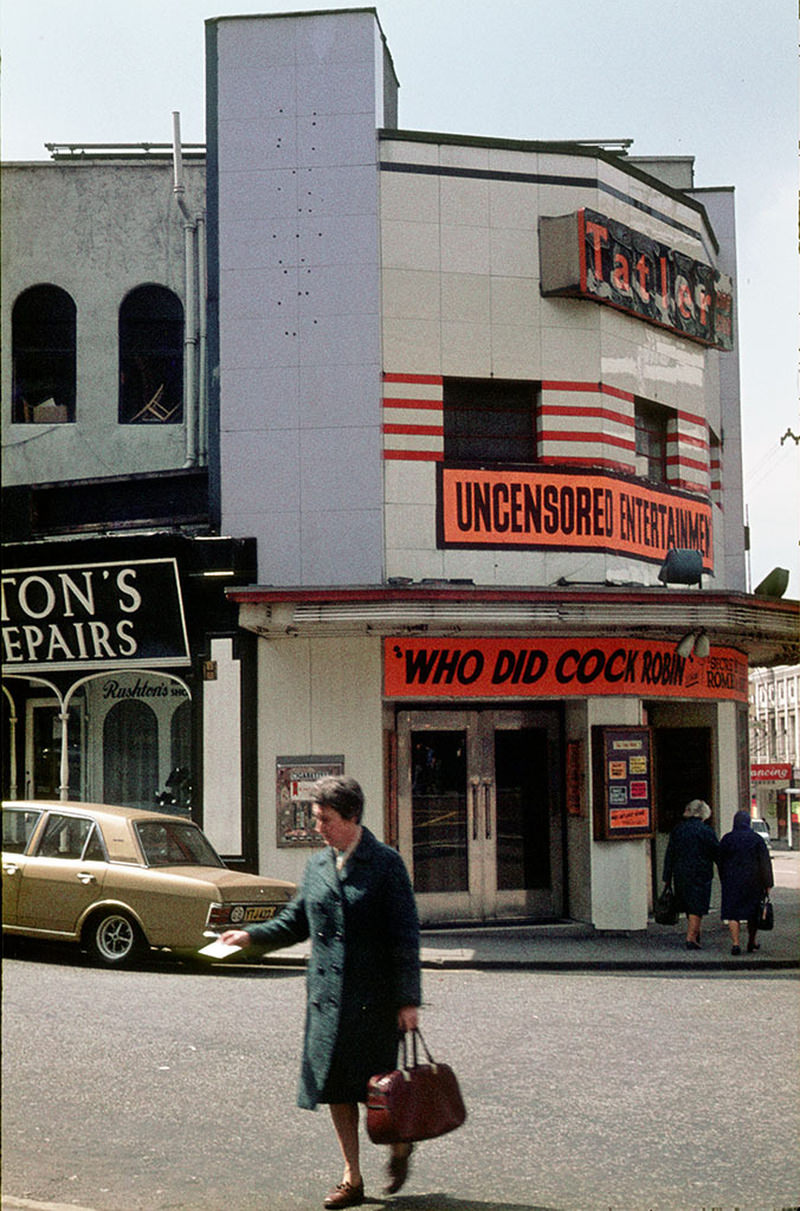 The Tatler cinema on the corner of Whitworth Street and Oxford Road Station Approach in 1974 – later became part of the Cornerhouse arts venue