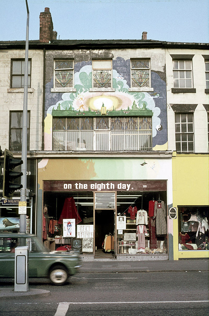 The On the Eighth Day shop at 111 Oxford Road, photographed around 1973.