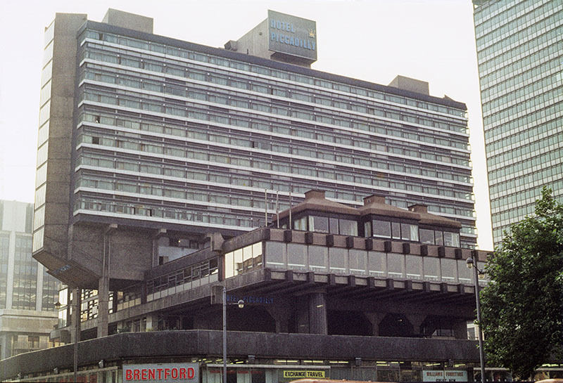The Hotel Piccadilly from Piccadilly Gardens in 1972