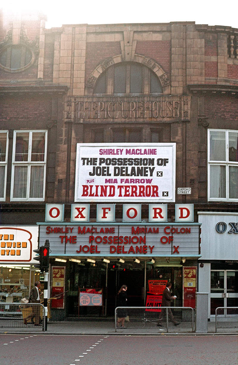 The Oxford cinema (also called the New Oxford) on Oxford Street, formerly The Picture House, in September 1972.
