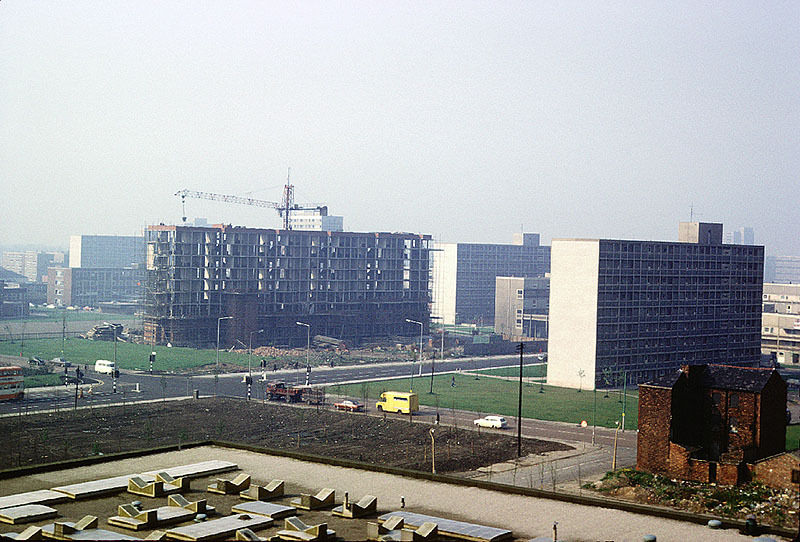 The Cooper House block of flats under construction, 1973