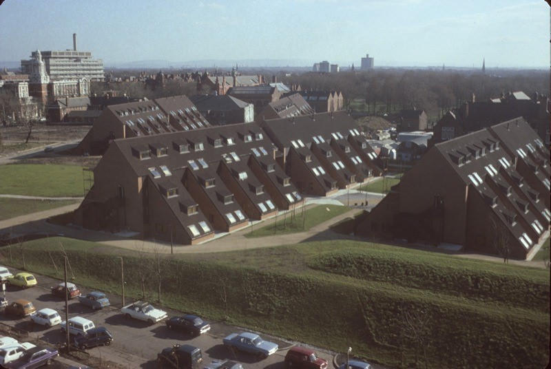 The University of Manchester's Whitworth Park student residences in 1976