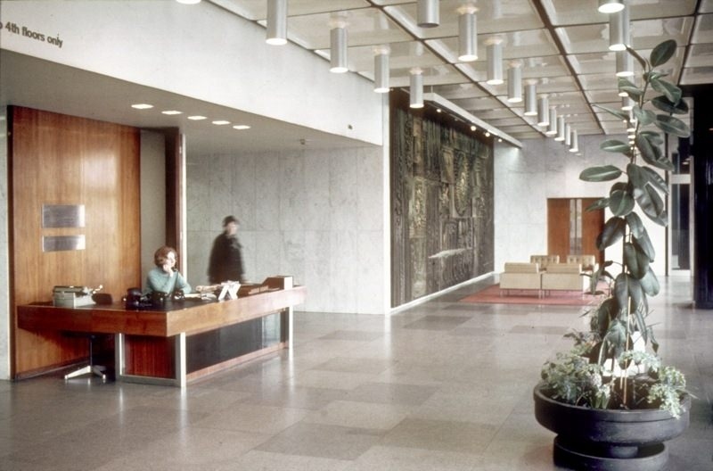 Entrance Hall of the CIS Building in 1970