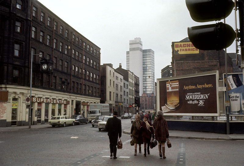 View north along High Street from the junction with Church Street in March 1970.