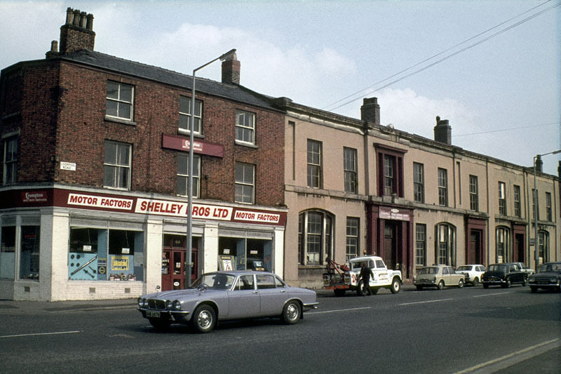 Liverpool Road at the junction with Water Street, around 1975.