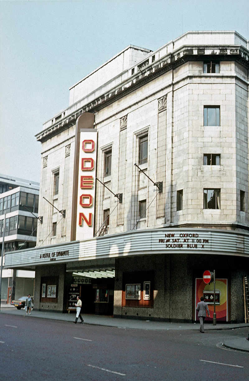 The Odeon cinema on Oxford Street, photographed September 1972
