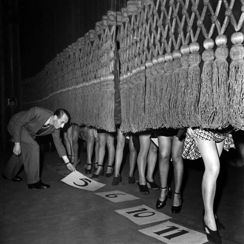 Contest for the most beautiful legs, Paris, 1946.