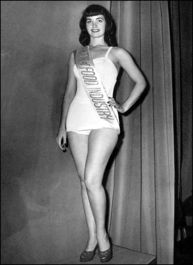 Miss Food Industry Bettie Page, c.1951