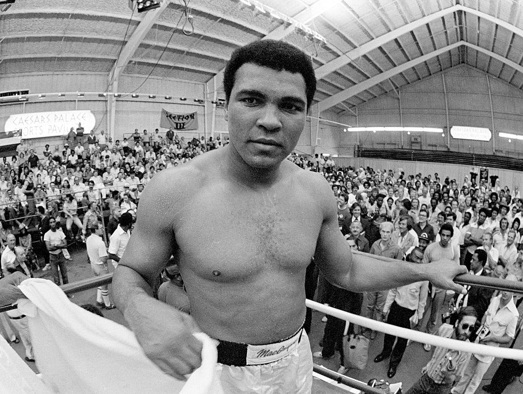 Muhammad Ali during a training session at the Caesar's Palace Sports Pavilion in Las Vegas, circa September 1980