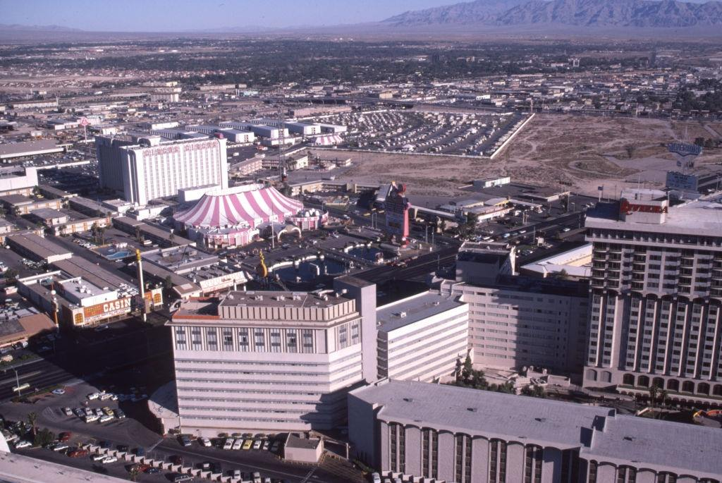 Aerial view of Las Vegas in October 1980.