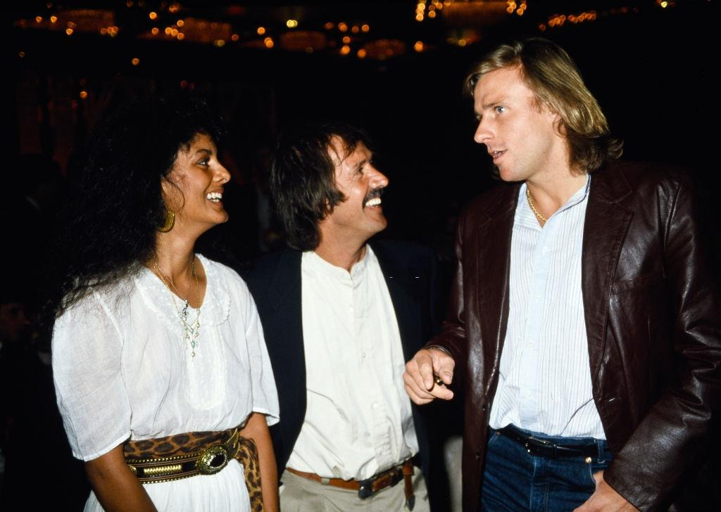 Suzie Coelho, Sonny Bono and Bjorn Borg attending the 11th Annual Alan King Pro-Celebrity Tennis Classic Party' on April 23, 1982 at Caesars Palace in Las Vegas