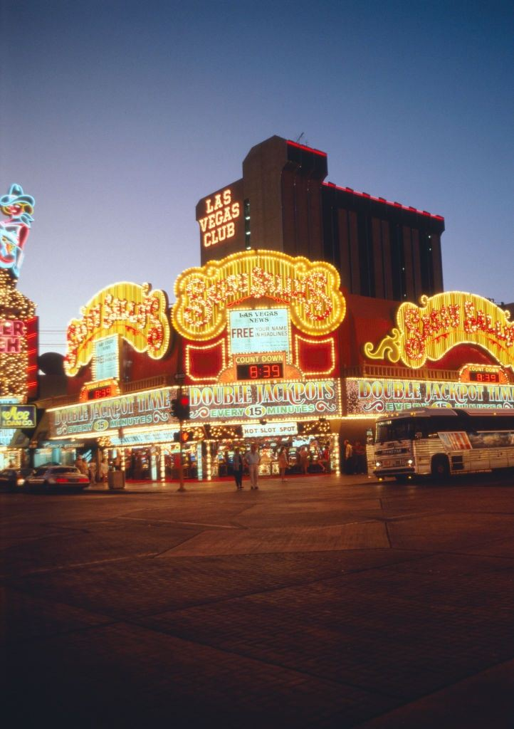 Casinos at the Las Vegas Blvd, 1980s.