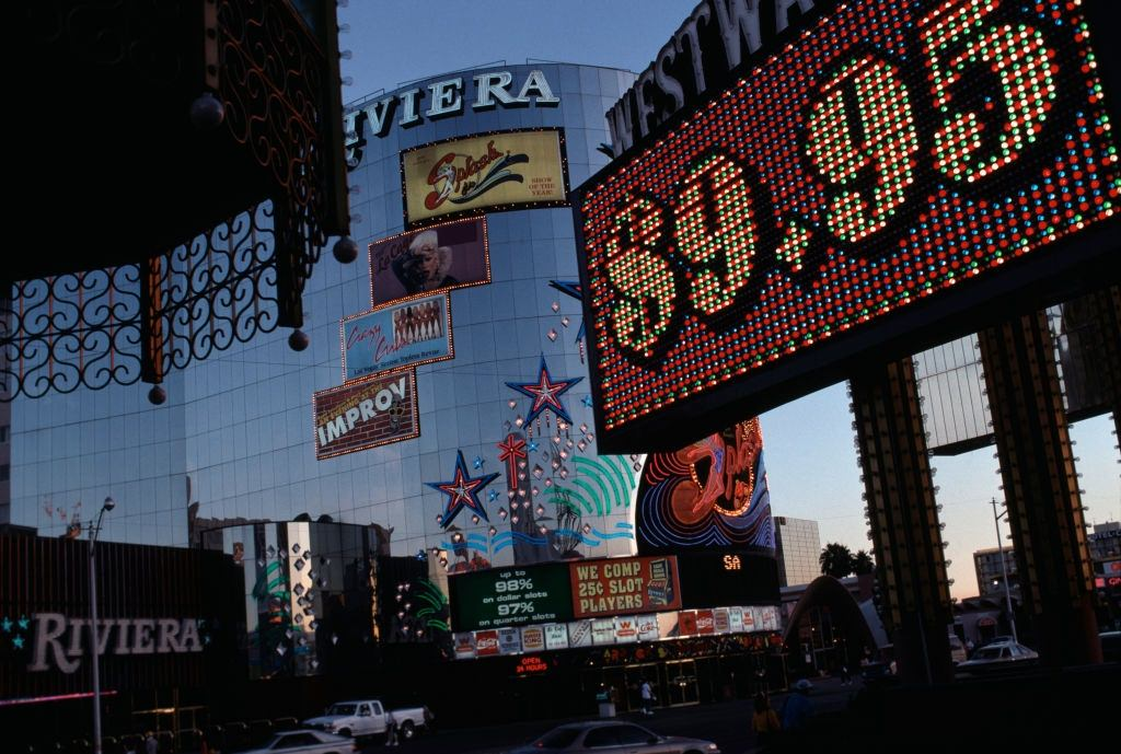 The Riviera casino in Las Vegas, November 1984.