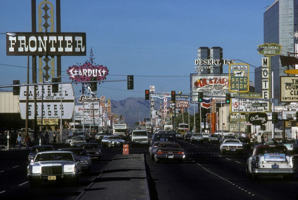 Billboards in October 1980 in Las Vegas.