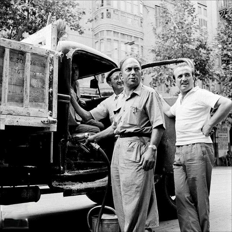 Filling lorry with petrol, 1957