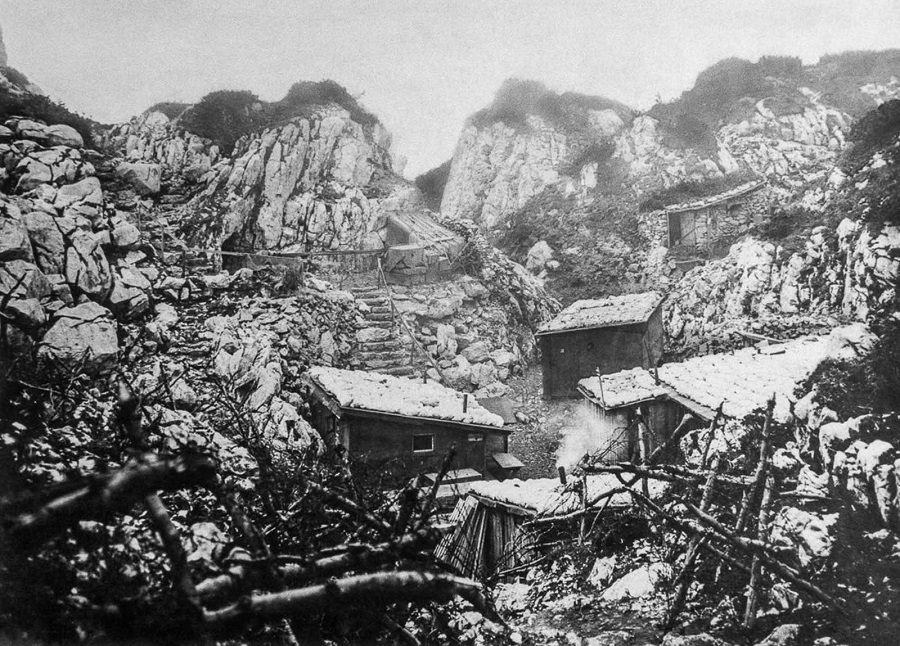 Austro-Hungarian troop shelters. 1916.