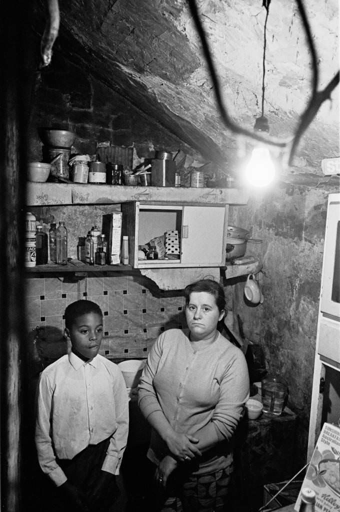 Mother and son in Manchester kitchen 196