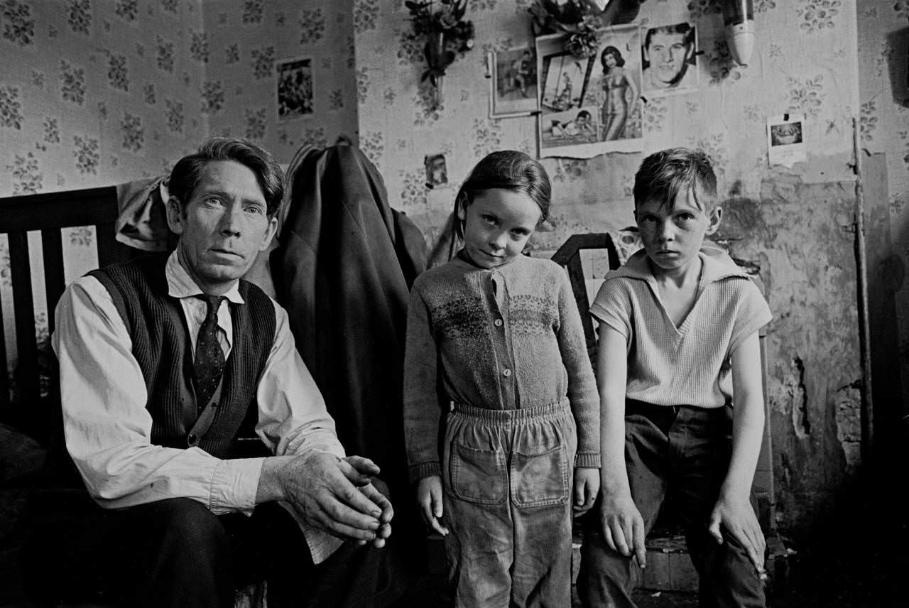 Irish immigrants recently moved to Moss Side 1969