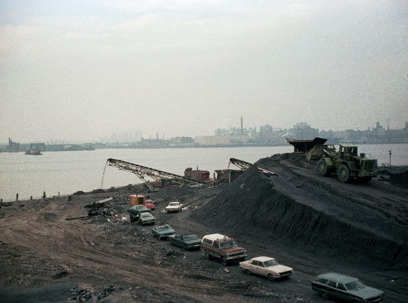 Where the beautiful Battery Park City esplanade along the Hudson is now, June 1975