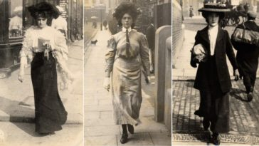 Edwardian Era's Street Styles On London Streets From The Early 1900s