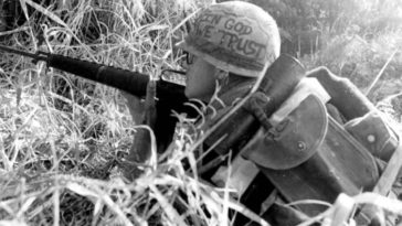 During The Vietnam War Soldiers Wrote Satirical Slogans On Their Helmets To Express Themselves