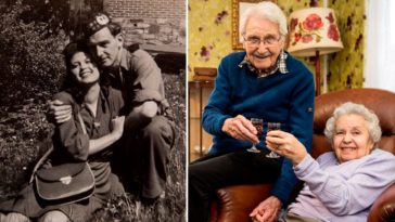Then and now photos of long-lasting couples