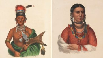 Native Indian Tribes chiefs 1840s