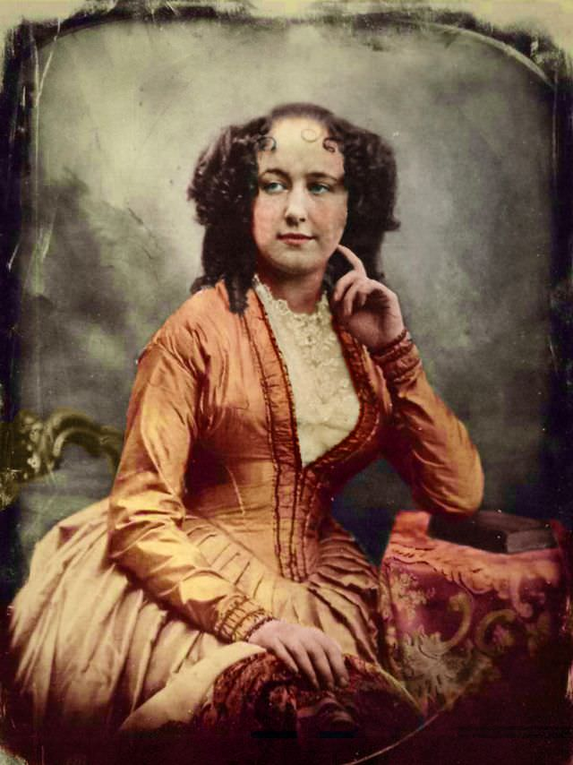 Portrait of a beautiful woman by the Boston daguerreotypists Southworth and Hawes, about 1848