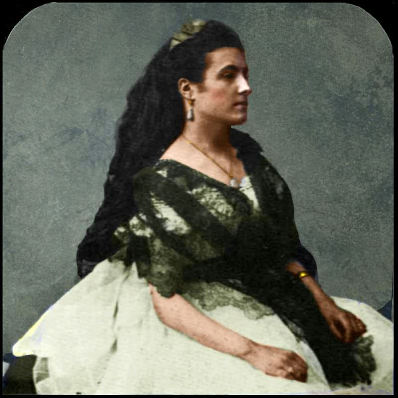 Portrait of an unknown woman at studio of Nadar, 1861