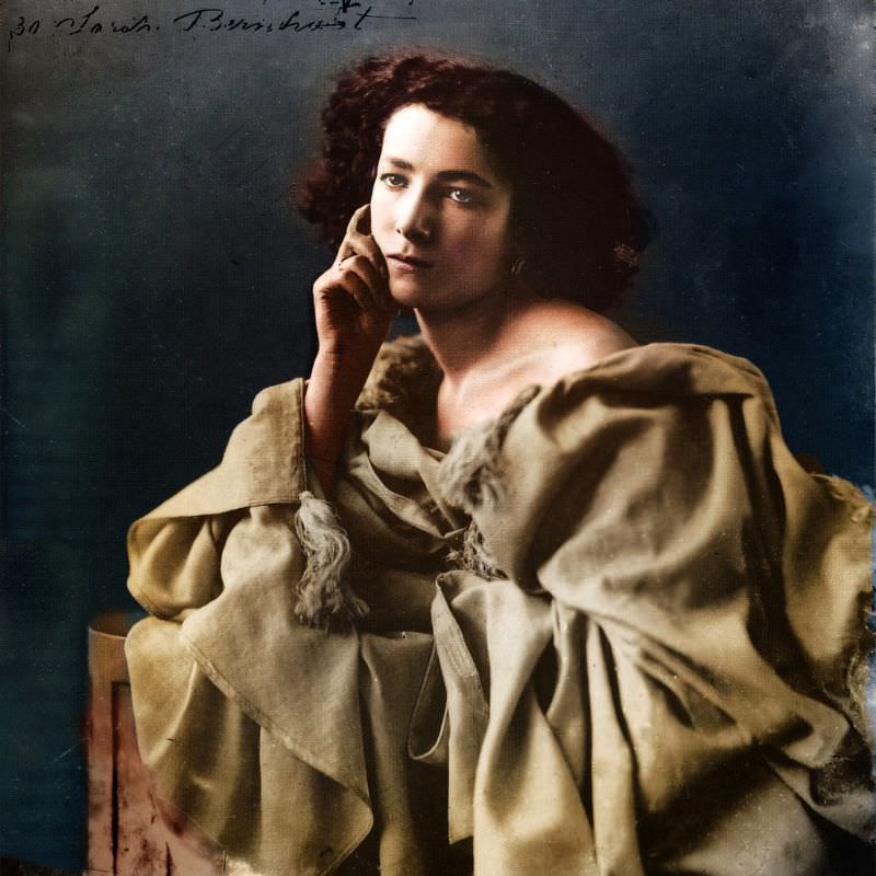 French stage actress Sarah Bernhardt photographed by Nadar, 1864