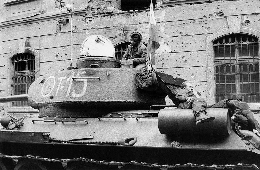 Tank of the Hungarian insurgents.