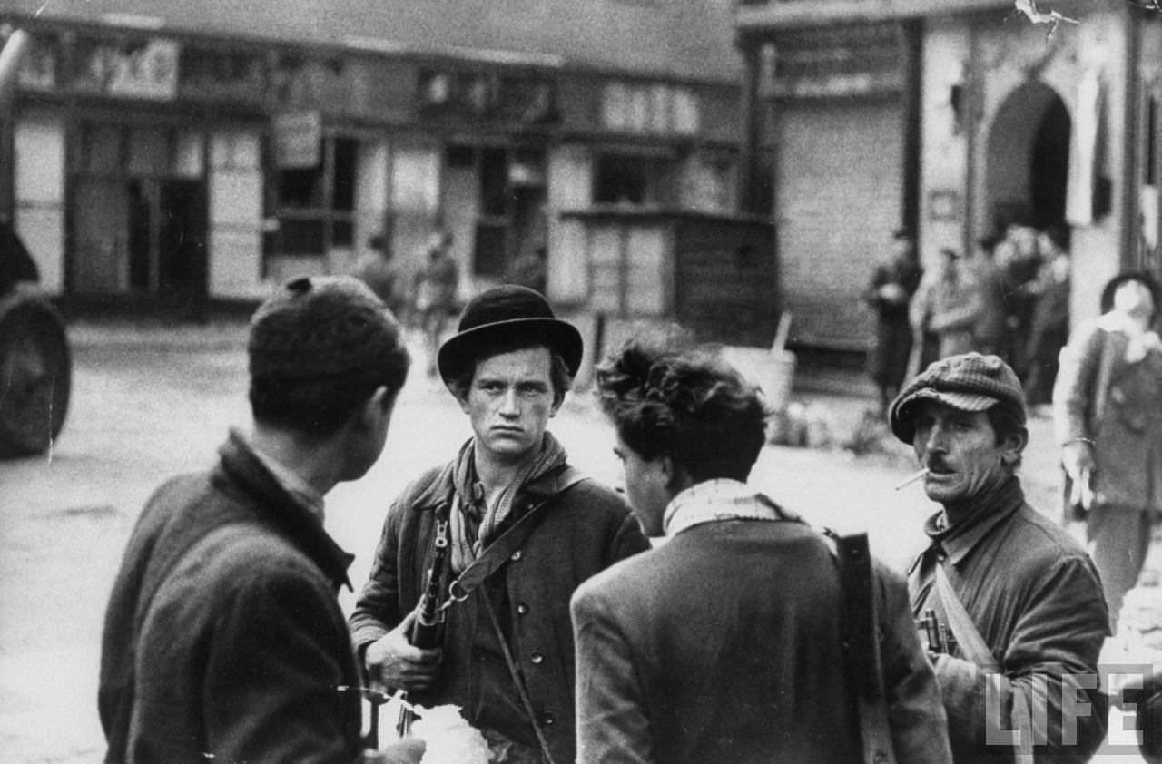 Hungarian Freedom Fighters during revolution against Soviet backed communist government.