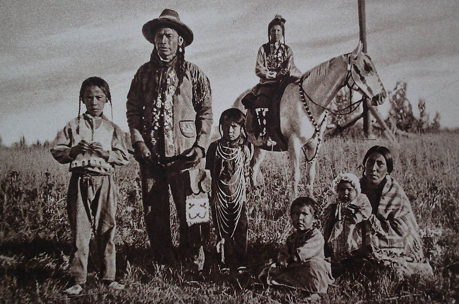 Indians in a reservation in Montana.