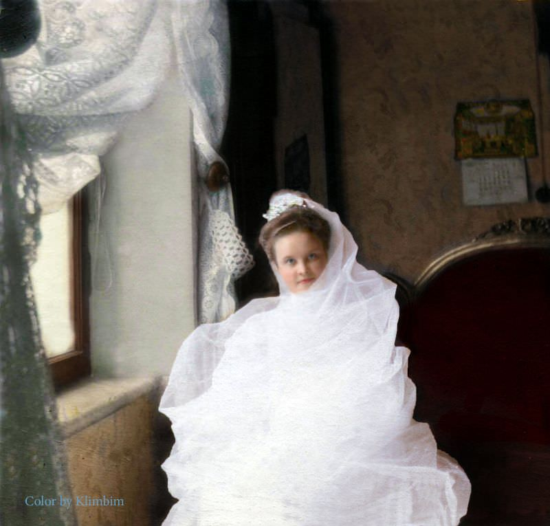 A young bride in Russia, 1903