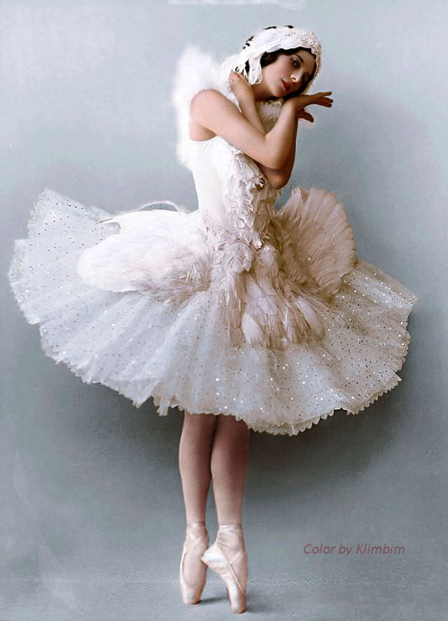 Anna Pavlova in 'The Dying Swan', 1900s