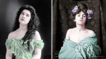 beautiful women colorized photos from 1900s