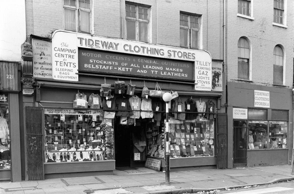Tideway Clothing Store, Deptford High St, Deptford, Lewisham, 1988