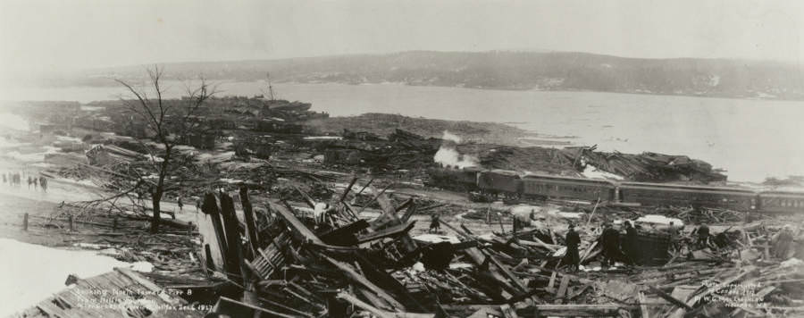 The ruins of the Halifax Harbor.