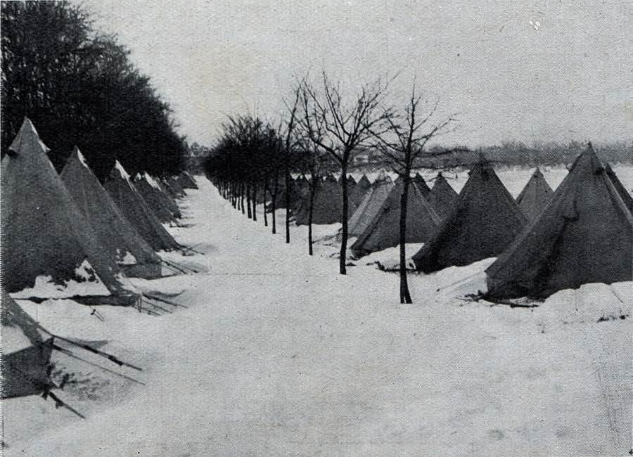A tent city set up for the survivors of the explosion.