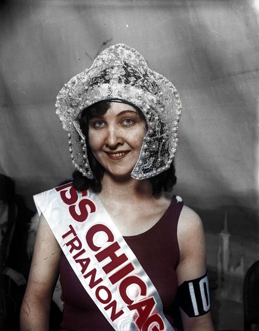 Mae Greene, 18, was chosen as Miss Chicago 1926 out of 4,000 rivals at the Trianon Ballroom.