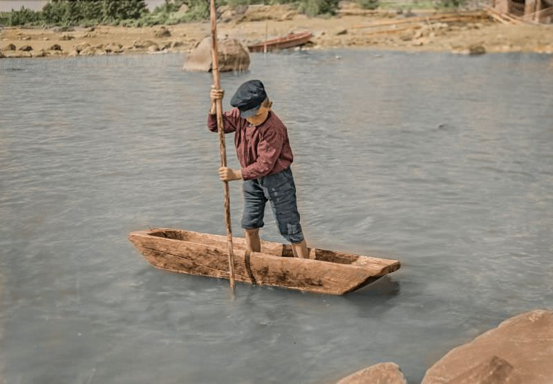 His first boat, 1931